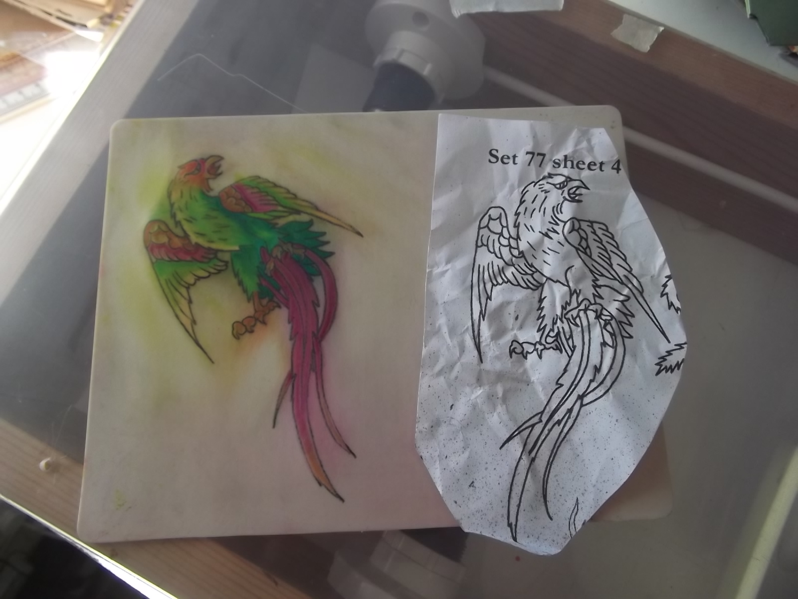Fine line tattoos oswestry inside out art group for Artificial skin for tattooing