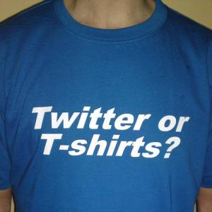 Twitter or Teeshirts? Neil Phillips' 366 Teeshirts project wrap party, this Friday at the Ironworks in Oswestry.