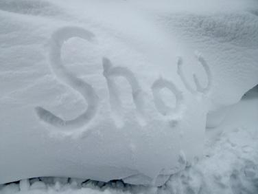 Snow! And plenty of it...