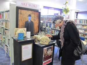 Sandy in Oswestry Library