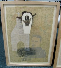 """monoprint from """"Keep In, Keep Out"""" - Maria Lee, 2004"""