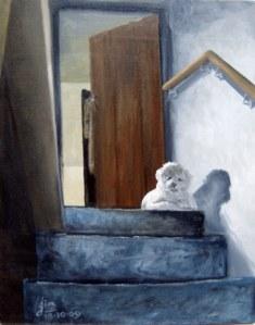 Guarding the Stairs - Jim Heath.