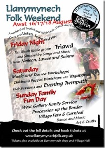 Art in August! Music, art and craft in Llanymynech.