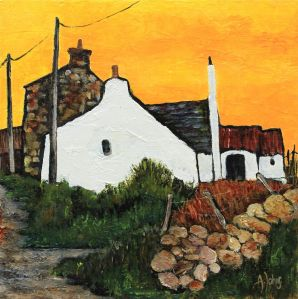 """Pembrokeshire Lane"", Audrey Johns (from ""Postcards from the past"" at the Pure Art Gallery, Milford Haven Marina (via walesonline.co.uk)"