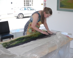 Feltmaking in the gallery