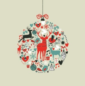 15579432-christmas-decorations-icons-on-bauble-shape-postcard-background--illustration-layered-for-easy-manip