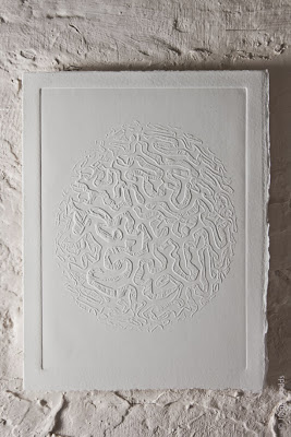 Brain Coral, blind embossing © Jacqui Dodds
