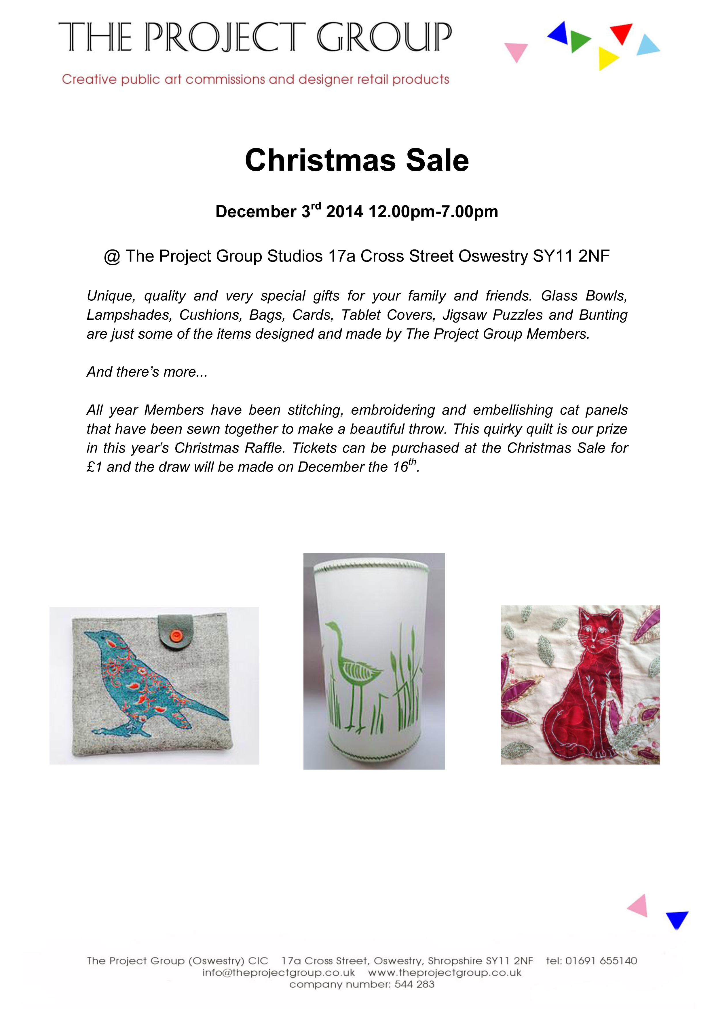 CHRISTMAS SALE BY THE PROJECT GROUP! | Inside Out Art Group