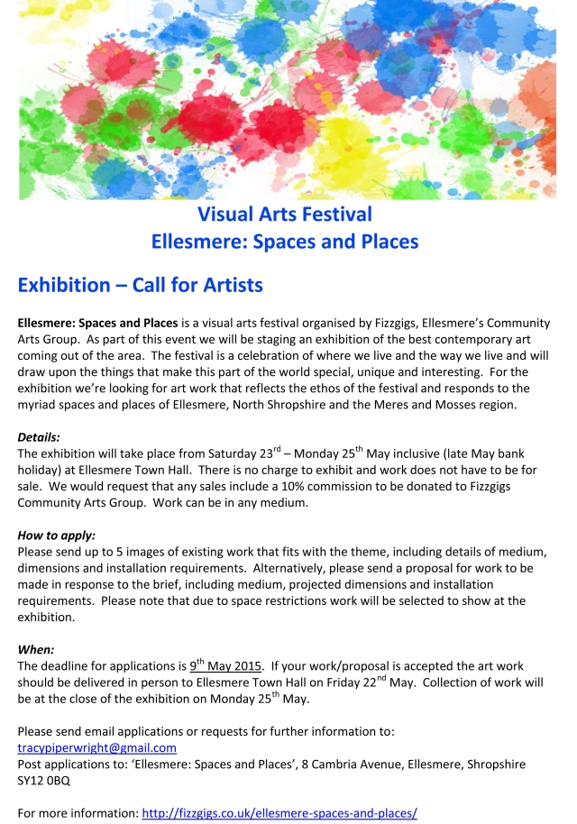 Ellesmere Spaces and Places Exhibition Call