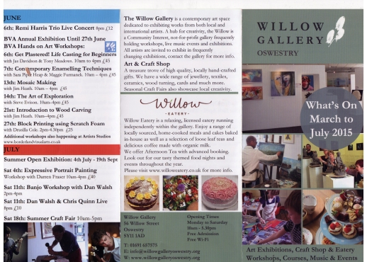 Willow gallery leaflet 1
