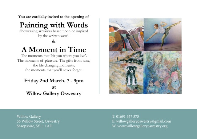Painting with Words Invitation