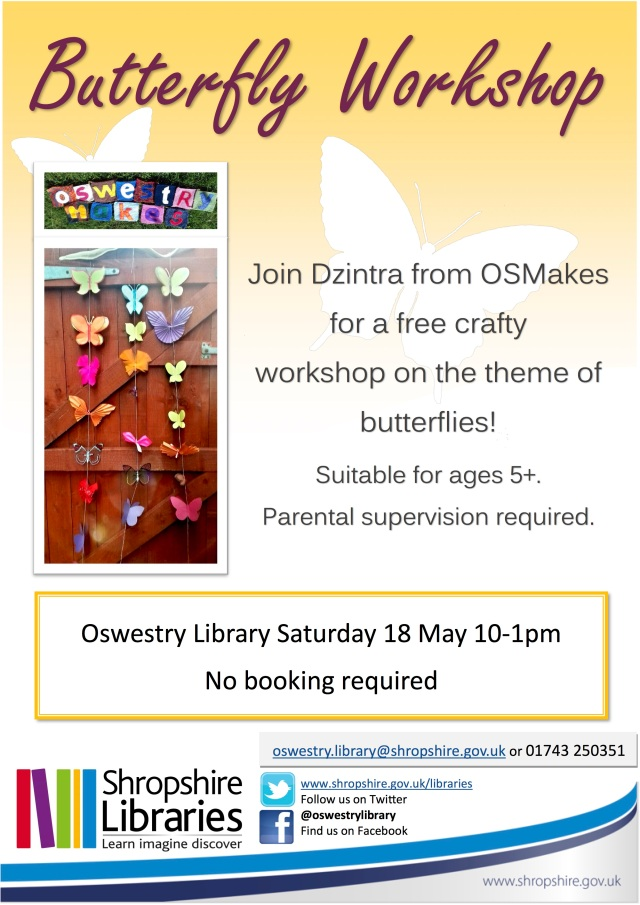 Butterfly Workshop 18 May